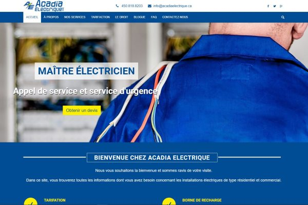 Agence web - Marketing digital - création site web - Protai-in - acadia electriquE