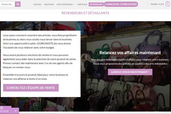 legrossiste.biz - protaiin agence web cameroun-douala-montreal